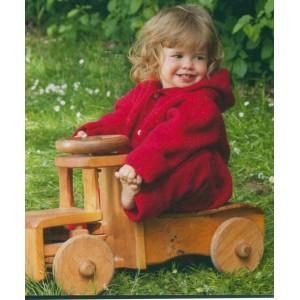 Combinaison bébé en laine Polairee 100%, rouge cerise, bleu océan - Vêtement bio bébé