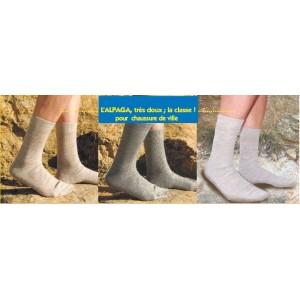 Socquettes montantes en poils de dromadairre - couleur d'origine ACAJOU