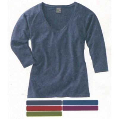 T-shirt manches raglan longueur 3/4, en coton bio et chanvre LAURYN