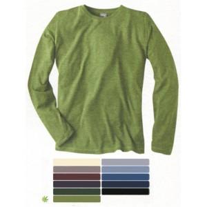 T-shirt basique à manches longues en chanvre et coton bio DIEGO