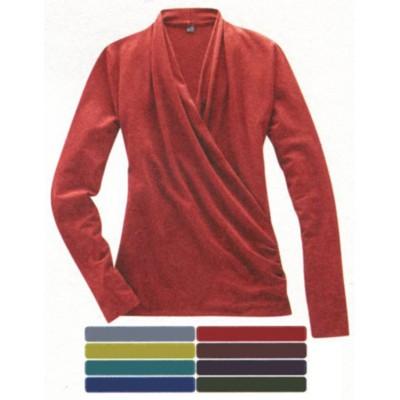 T-shirt manche longue en coton bio et chanvre SCARLETTE, prix fin série
