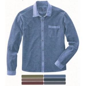 Chemise manche longue en jersey de chanvre et coton bio ROBIN prix réduit