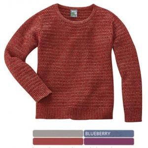 Pull gros tricot en chanvre et coton bio,  EMMA