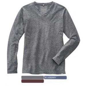 065f52bc68c2e T-shirt manche longue chanvre et coton bio à col V VOLKER
