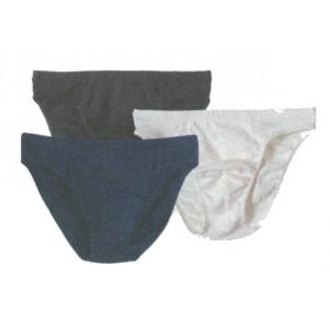 Slip taille basse, écru, noir,bleu graphite,  coton - Sous vêtement bio