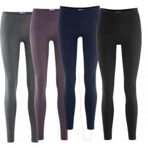 confortables et moulants : les leggings  en pur coton bio et élasthane (92 / 8 %)