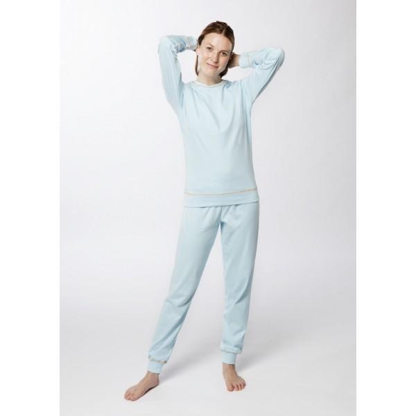 pyjama femme col rond coton biologique interlock. Black Bedroom Furniture Sets. Home Design Ideas