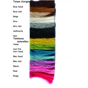 Fil à tricoter laine alpaga teintures végétales