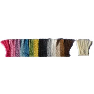 Fil à tricoter laine alpaga coloris naturels, toison