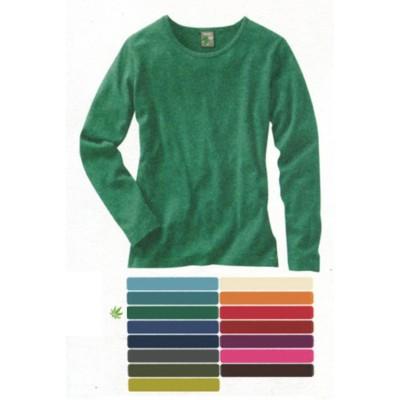 67e6957170b32 T-shirt basique à manche longue en chanvre et coton bio NAOMI