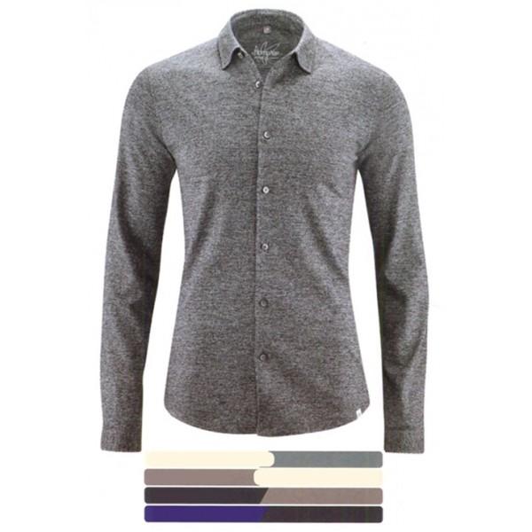 chemise cintr e homme en jersey chin coton bio et chanvre jonah. Black Bedroom Furniture Sets. Home Design Ideas