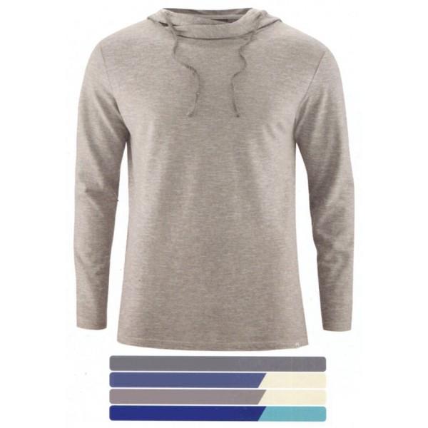 7322f27862b T-shirt manche longue à capuche