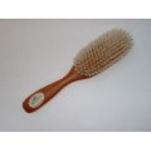 Brosse en bois cheveux longs