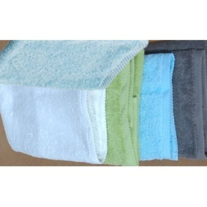 Gants de toilette, le lot de deux, en coton biologique de taille 22/16 cm