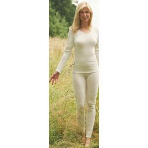 Legging écru laine biologique – sous-vêtement bio femme