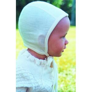 bonnet d'intérieur écru laine/ soie biologique - Sous vêtement bio bébé