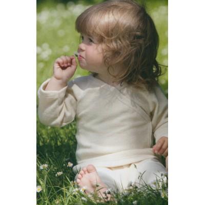 Pull boutonné devant écru coton molletonné - Vêtement bébé bio