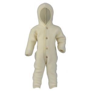 8e0ea8858665b Combinaison bébé en laine Polaire 100% écru